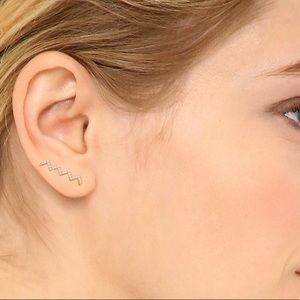 Brand New Gold Gorjana Cress Shimmer Ear Climbers